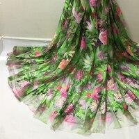 @ 04 francés Africano tela de encaje de tul de Alta calidad para el vestido de 5 yardas Hermosa encajes neto de malla con lentejuelas al por mayor envío gratis