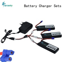Battery Charger set For Hubson H501W H501S H501C Battery 7.4V 2700mAh 10C lipo battery and Charger For RC Qaudcopter Drone Parts 2017 good quality hubsan h501s x4 rc quadcopter spare parts 7 4v 2700mah 10c rechargeable battery h501s 14 free shipping