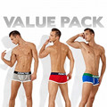 Free Shipping Breathable Brand Men Underwear Sexy Boxer Cotton  U Convex Designer Fashion Underwear Trunks Penis sexy underpants