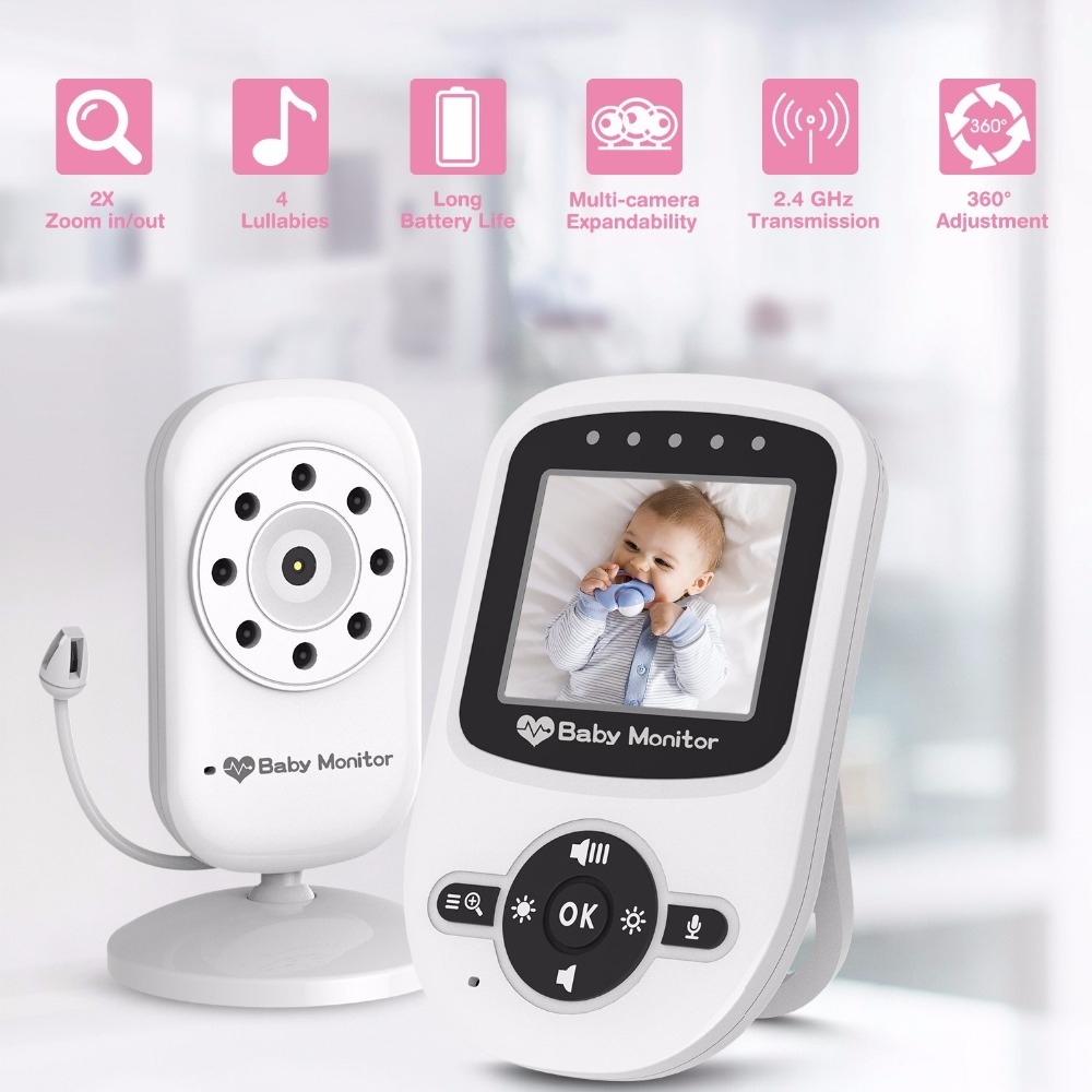 babykam baba eletronica baby camera infravermelho celular Night vision 2.4 inch 2 way Talk Temperature Monitor Lullabies 2X Zoom