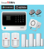 SmartYIBA Wifi GSM GPRS SMS Security Alarm System G90B Plus Smart Home Home Burglar Security Touch