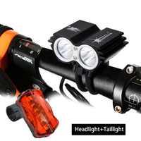 SolarStorm 1600Lm 2x XM-L T6 puissant vélo vélo lumière LED lumière de Cycle lanterne accessoires pour vélo 6400mAh batterie feu arrière