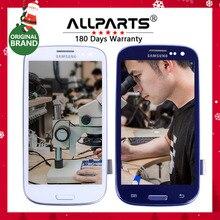 """TESTOWANY 4.8 """"HD IPS LCD do SAMSUNG Galaxy S3 LCD wyświetlacz i747 i9300 i9300i Wymiana Digitizer Ekran Dotykowy z Ramką i535"""