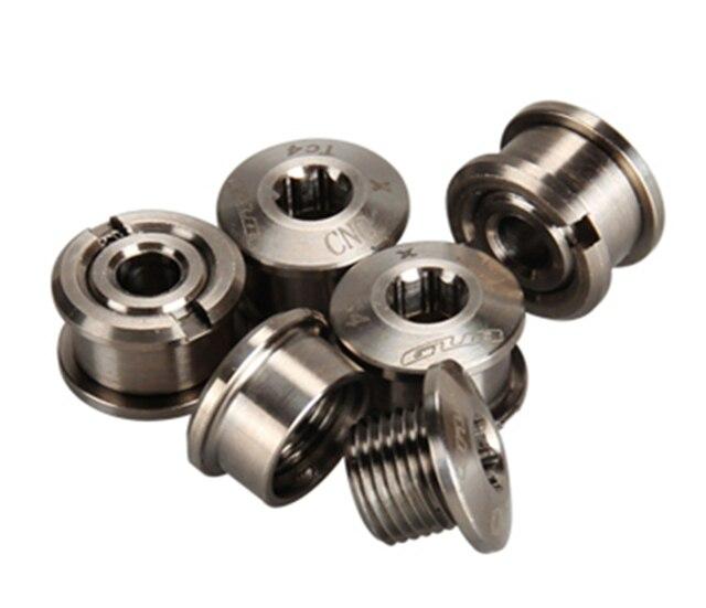 Gold Black 4pcs Titanium Crankset Chainring Bolts and Nuts