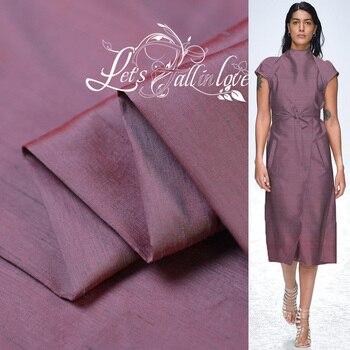 Hilo de seda teñida tela de calidad traje de noche material 2 tono seda dupion 100cm * 137cm