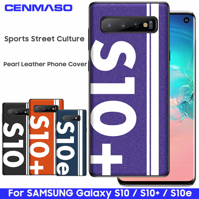 For Samsung S10 Case Original Sports Street Culture Pearl Leather Soft Edge For Samsung Galaxy S10 Plus 5G S10e Back Cover Case