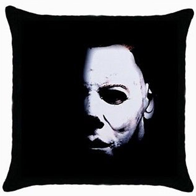 Hot Michael Myers Halloween Cushion Cover Throw Pillow Case Horror Movie Face Home Decor