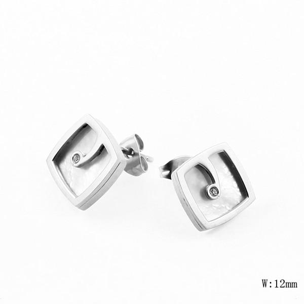 TE-1 Wholesale Fashion Stainless Steel Women Earring Pearl Charm Trendy Party Gift Earring Jewelry New Design Women Earring
