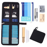 32pcs Sketch Pencil Set Professional Sketching Drawing Kit Set Wood Pencil Pencil Bags for Painter School Students Art Supplies