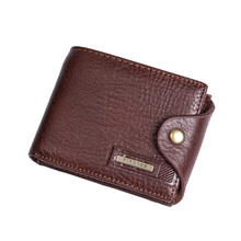 new small wallets men wallets short men #8217 s wallet Genuine leather guarantee purse for male coin purse rifd wallet cartera hombre cheap Badiya Cow Leather 150g Polyester Solid Fashion MW03809 Note Compartment Photo Holder Card Holder Coin Pocket 1 5cm 11cm