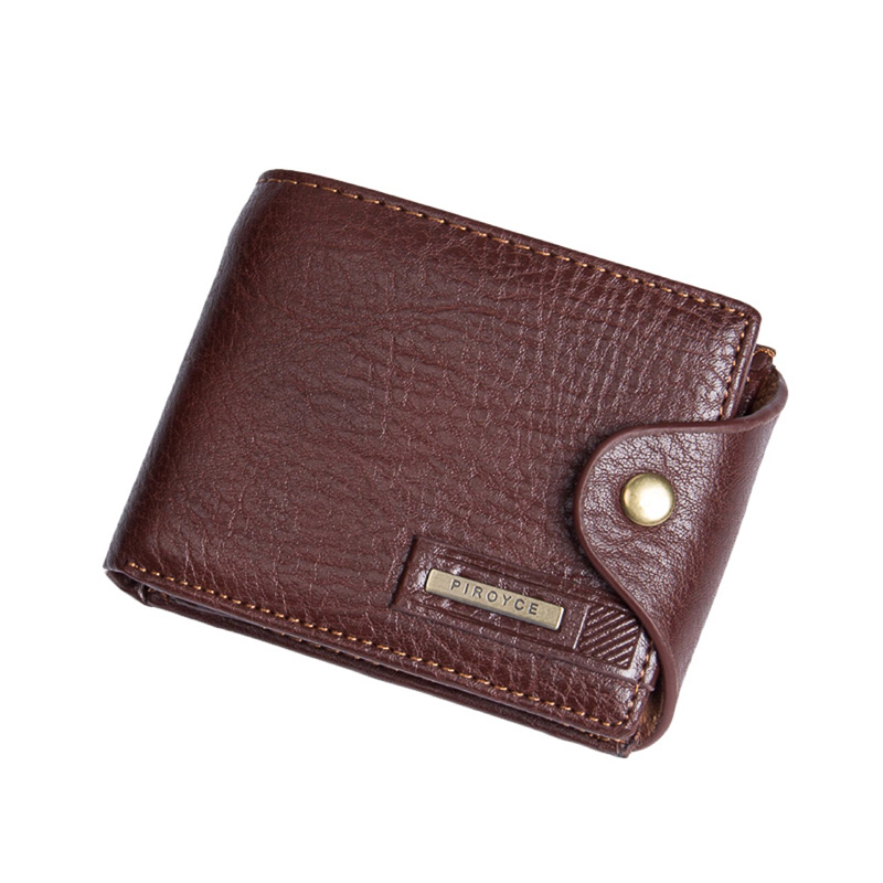 2019 New brand high quality short mens wallet ,Genuine leather High guarantee purse for male coin free shipping