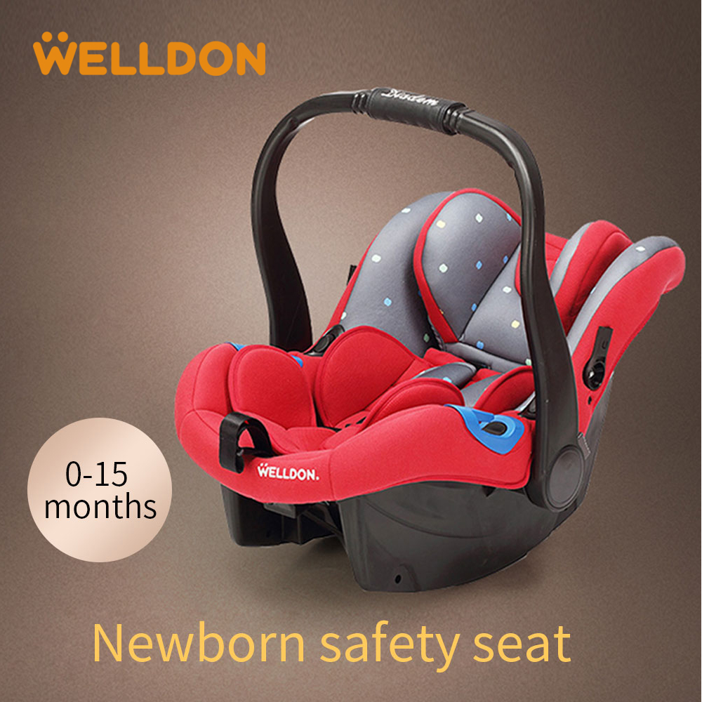 Welldon Child Car Safety 0/0+ (0-13kg) 0 - 15 Months Old Baby Car Safety Seat Head Protection 3C ECE Certification 3 color baby kid car seat child safety car seat children safety car seat for 9 months 12 year old 3c certification