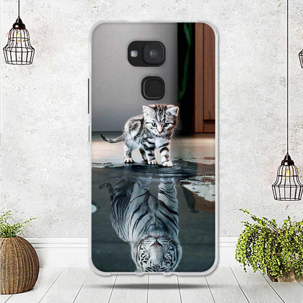 """Lembut Silicone Ponsel untuk BQ Aquaris V Plus Funda Soft TPU Case Back Cover untuk BQ Aquaris Vs Plus 5.5 """"Tritone Hewan Bunga Capa"""