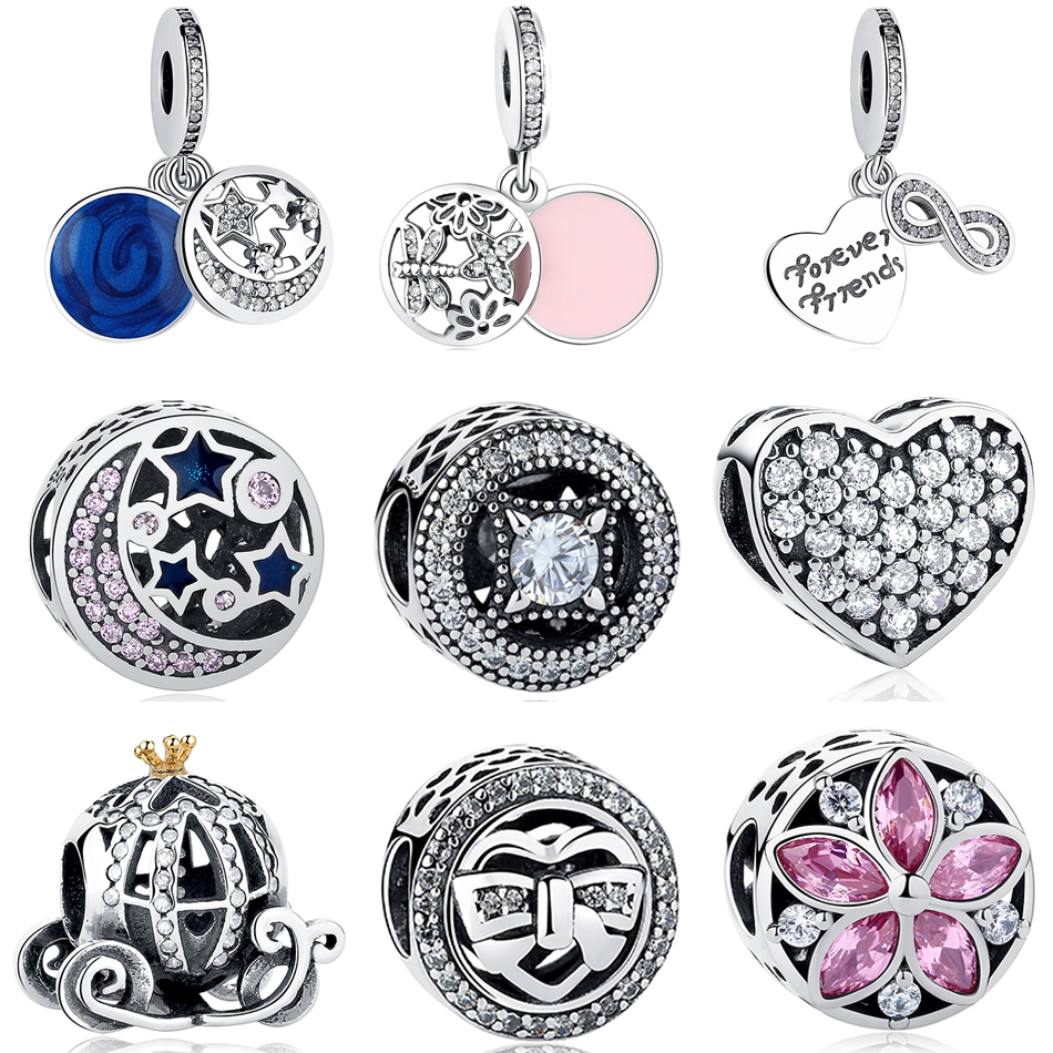 Fit Pandora Charm Bracelet Original 925 Silver Charms Bead Daisy Openwork Charm With Clear Zircon Jewelry Berloque 2017 Winter