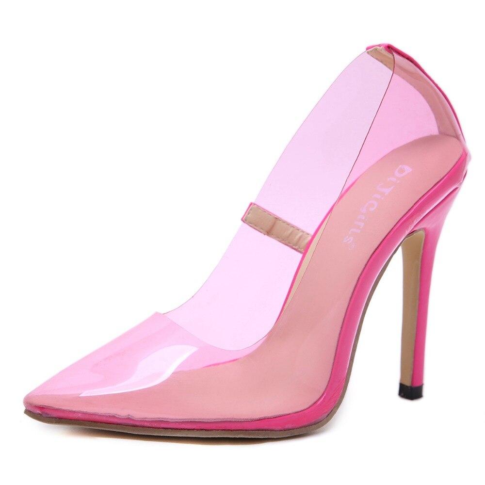 Pie Sandalias Fiesta Transparente Aguja Black Las Clara De Bombas Tacones pink Tacón Del Pvc Alto Nuevo Sexy Boda 2019 Zapatos Dedo Mujeres Estilo Puntiagudo I46qpx8