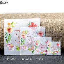 BXLYY Plastic Self-adhesive Bag Thank You Biscuit and Candy Wedding Birthday Party Gift Baking Gifts for The New Year.7z