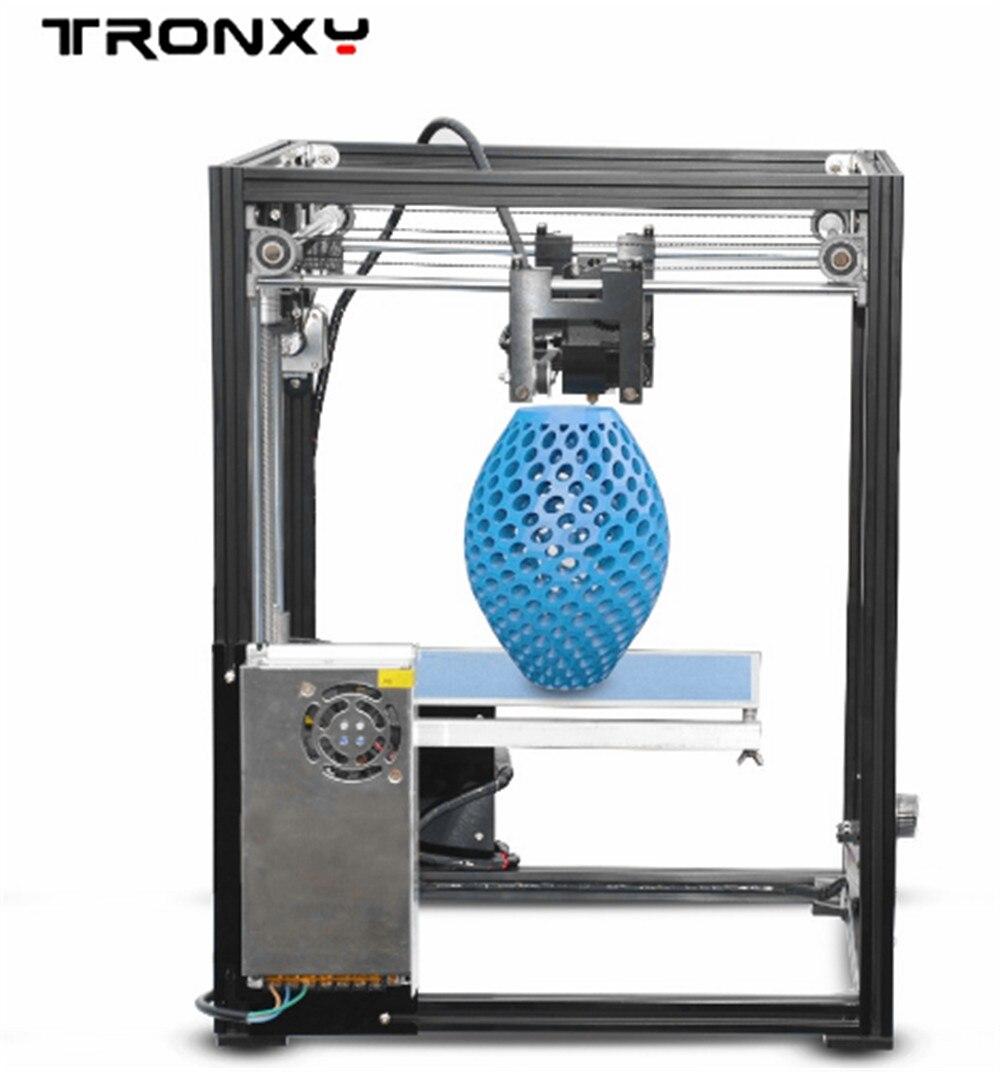 D'origine Tronxy X5 Profilés En Aluminium boîte 3D Imprimante DIY kit métal FDM la technologie D'impression Haute qualité grand imprimé taille LCD