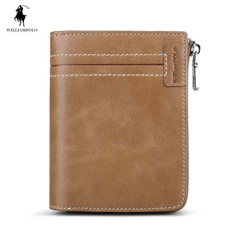 2018 Genuine Leather Men wallets Zippy Card Holder Cowhide Wallet Fashion Handy Purse Card & ID Holders цена