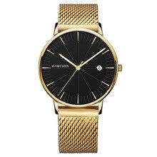 Fashion high-end simple black business calendar men's watch alloy mesh belt watch mens watches gifts for men все цены