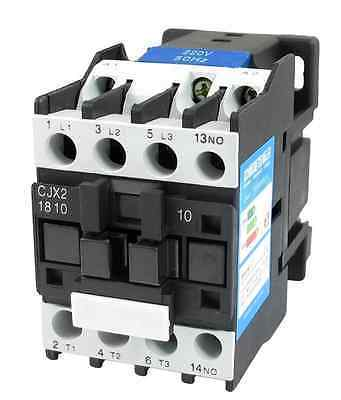 CJX2-1810 LC1 AC Contactor 18A 3 Phase 3-Pole NO Coil Voltage 380V 220V 110V 36V 24V 50/60Hz Din Rail Mounted 3P+1NO Normal Open