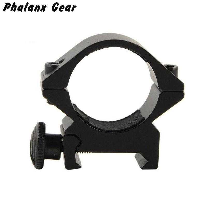 Image 2 - Tactische Vat 25.4mm/30mm Lage QD Scope Zaklamp Laser Sight Zaklamp Ring Mount 20mm RIS Rail airsoft Hunting Rifle  Scope-in Scope Mounts & Accessories from Sports & Entertainment