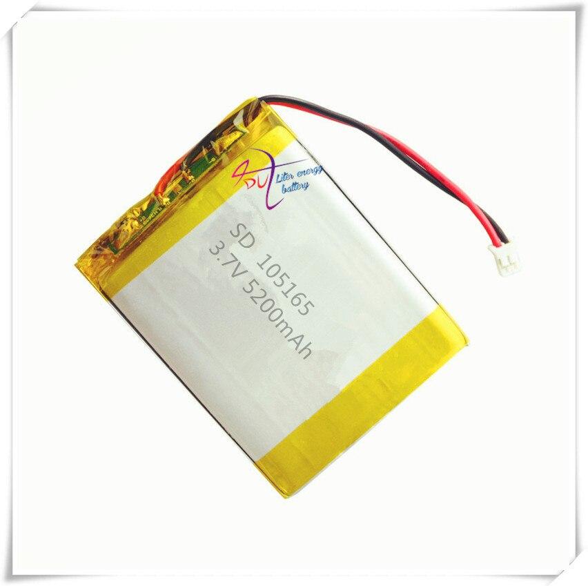 XHR-2P 2.54 3.7 V 5200 mAh batteries lithium-polymère puissance mobile LED lampe 105165 505065 505165*2