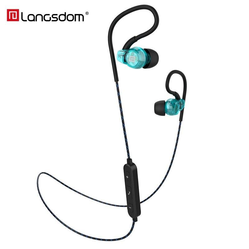 Langsdom BS80 Sport Sans Fil Casque Stéréo Bluetooth Écouteurs In-Ear Écouteurs avec pour Microphone pour Téléphone Fone de ouvido