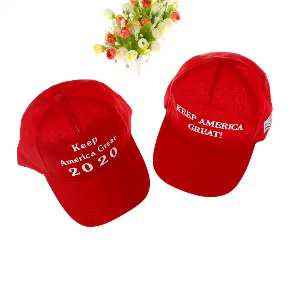 New Selling 2020 Donald Trump Red Hat Re-Election Keep America Great  Embroidery USA Flag e139e8edb710