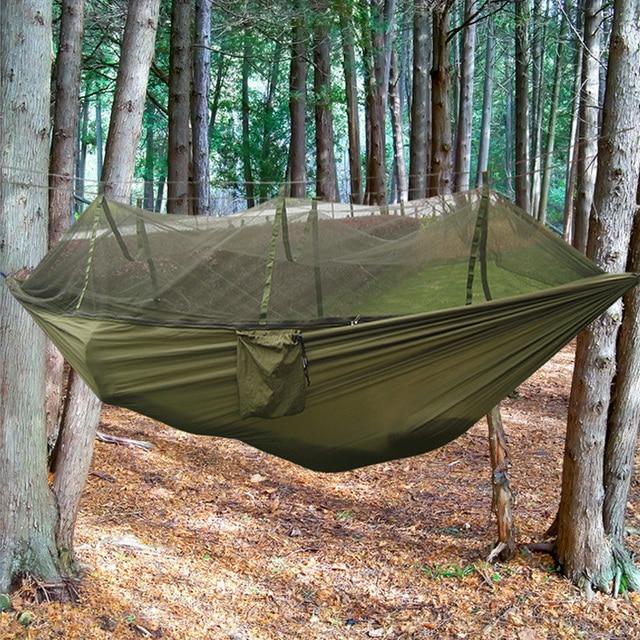 Hangmat Voor 2 Personen.2 Persoon Outdoor Parachute Doek Mosquito Proof Vissen Hangmat