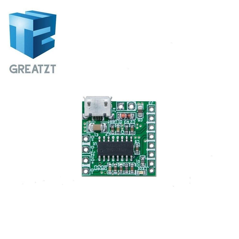 Mini 3W X2 Class AB Stereo Power Amplifier Board 5V USB Lithium battery Power