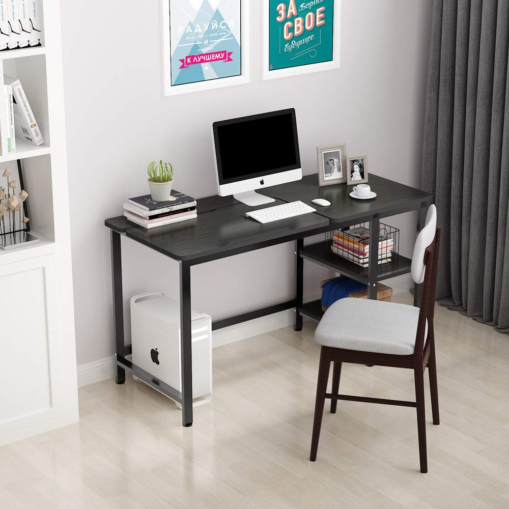 Computer Desk with Monitor Riser//CPU Stand and Adjustable Tiltable Drawing Board