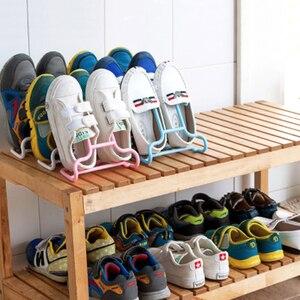 10PCS/Set Shoe Shelf Drying Rack Shoe Rack Holder Stand Multi-Function Kids Shoes Hanger Space-Saving Storage Organizer