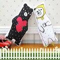 Мультфильм Медведь Подушку Чучела Плюшевые Игрушки Хлопка 3D Белый И Черный Медведь Животных Декоративные Подушки Для Диван Автомобилей Главная Подарок