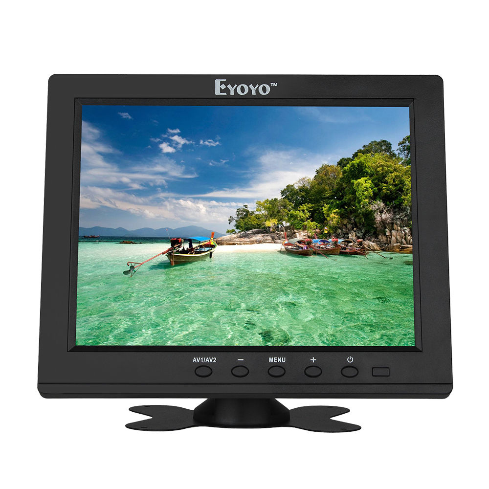 Eyoyo S801H86 Mini 8 inch IPS LCD Color 800x600 Monitor HDMl BNC AV VGA For CCTV DVR FPV VCD Security Camera 8 4 8 inch industrial control lcd monitor vga dvi interface metal shell open frame non touch screen 800 600 4 3