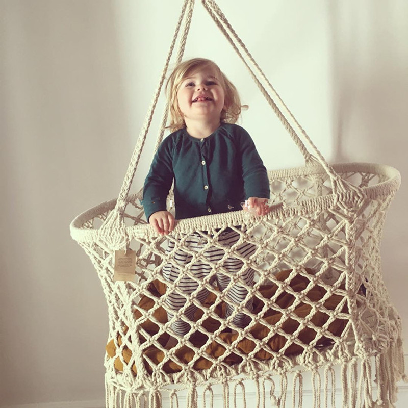 2018 Knit Design Baby Hammock Shaking Sleep Bed Great For Nursery Or Childs Bedroom Decor Swing, The Best Gift For Newborn Baby ...