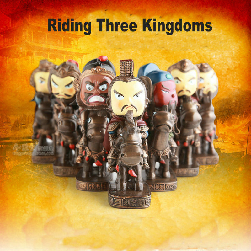 Cute Riding Three kingdoms Toy Figures Mini Resin Doll Handmade Chinese crafts Anime Figure Birthday Christmas Gift super cute plush toy dog doll as a christmas gift for children s home decoration 20