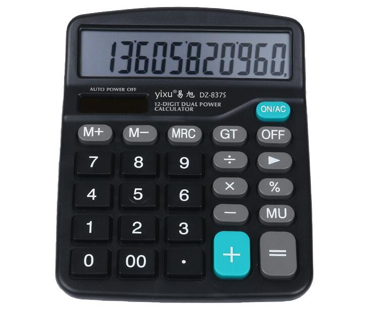 12c Dual power (solar power + AA battery) scientific calculator cientifica calculadora for Office work freeshipping