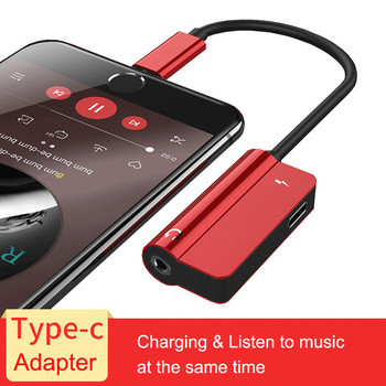 2 in 1 Type C To 3.5mm Jack Earphone Aux Adapter For xiaomi 6 Huawei P20 pro Audio Cable Headphone Charging Converter