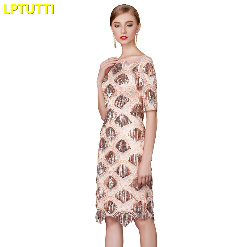 LPTUTTI Sequin Tassel New Sexy Woman Social Festive Elegant Formal Prom Party Gowns Fancy Short Luxury Cocktail Dresses