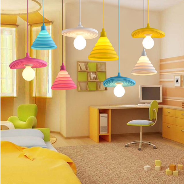 Moderne Pendelleuchten Mode Bunte Silikon Lampen Diy Design