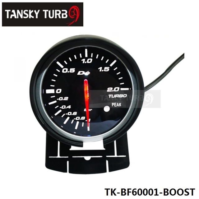 Tansky - BF 60 mm calibre do impulso de alta qualidade Turbo medidor com Red & White Light TK-BF60001-BOOST