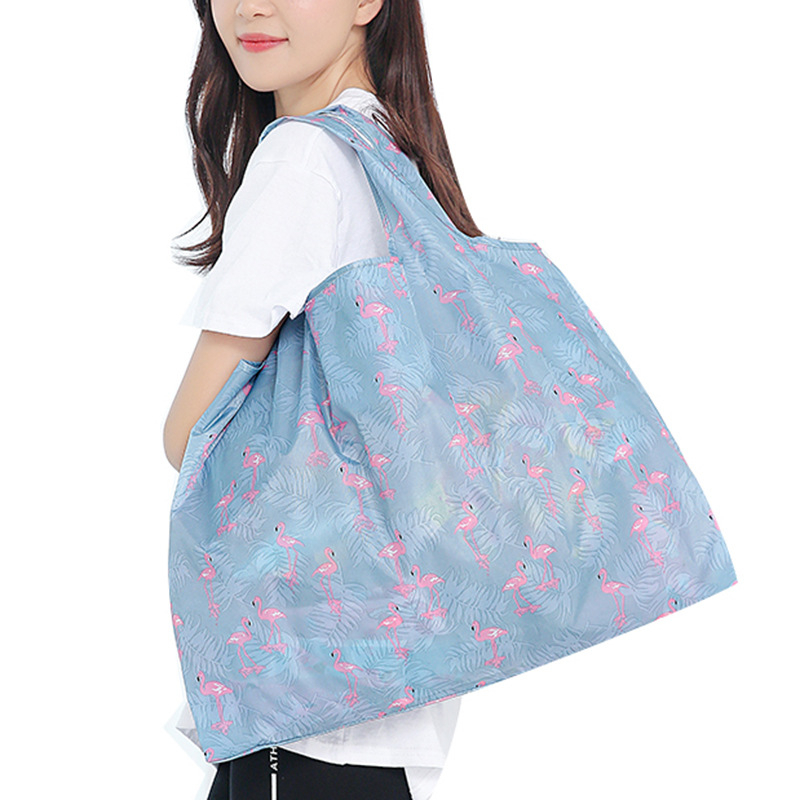 PURDORED 1 Pc  Unisex Foldable Handy Shopping Bag Reusable Tote Pouch Recycle  Waterproof  Storage Handbags Dropshipping