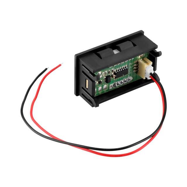 online shop 2 wire mini universal car digital voltmeter gauge rh m aliexpress com wiring volt gauge car Voltmeter Gauge Wiring Diagram
