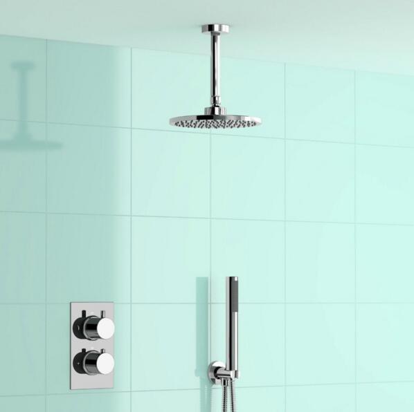 Bathroom Ceiling Mounted Round Brass 8\