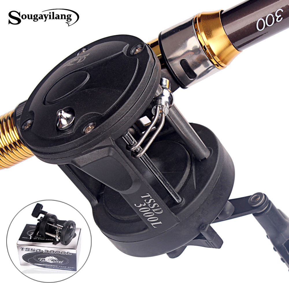 Sougayilang baitcasting reel 3 8 1 black right trolling for Sougayilang spinning fishing reels