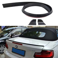Universal PU Carbon Fiber Rear Trunk Spoiler or Roof Wing Trim 1.5 Meters for BMW F30 F10 F16 E90 E92 M3 M4 Z4 E46
