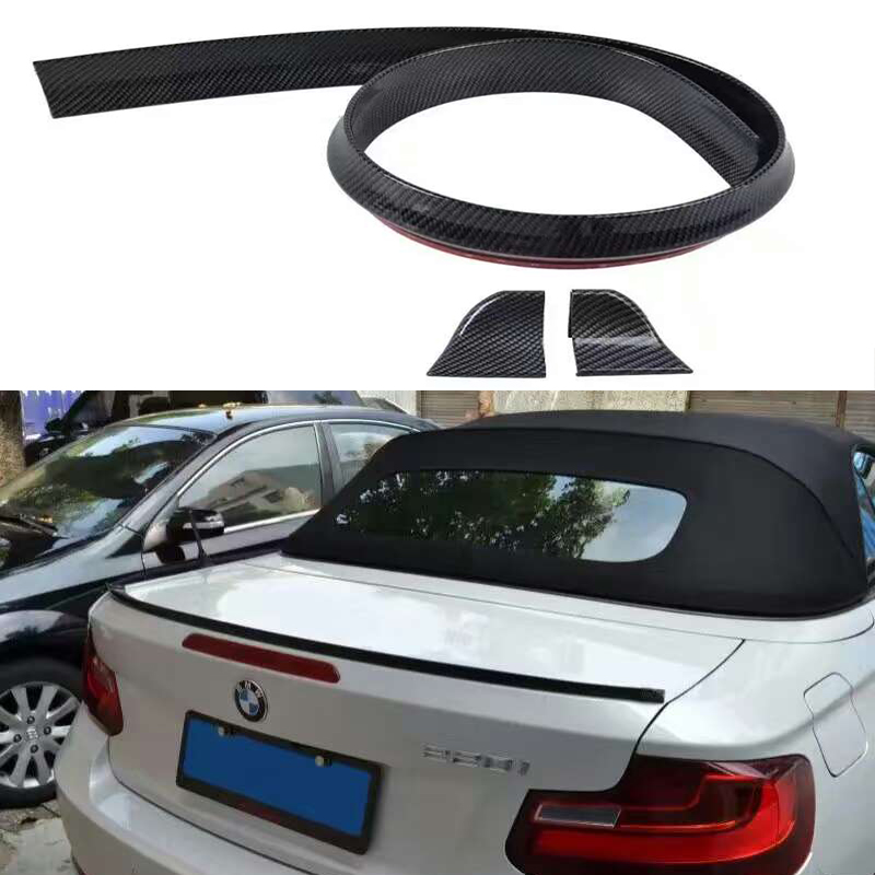 Universal PU Carbon Fiber Rear Trunk Spoiler or Roof Wing Trim 1.5 Meters for BMW F30 F10 F16 E90 E92 M3 M4 Z4 E46