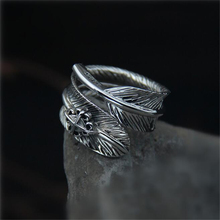 Vintage Open Adjustable Feather Arrow Opening Rings for Women Thai Silver Finger Ring 100% Sterling Silver Jewelry 19MM *9MM цена в Москве и Питере