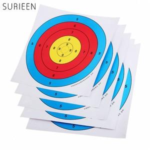 5Pcs Standard 40X40cm 15.75inch Full Ring Shooting Archery Target Paper Bow Arrow Set Hunting arco e flecha flechas tiro de arco