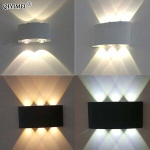 Image 5 - 白黒壁ランプアルミランプシェード照明器具ベッドサイド、リビングルームライトAC85 260Vウォームまたはクールホワイト照明